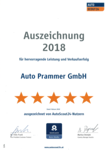 Auto Prammer_AutoScout24_Auszeichnung_2018