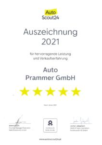 Auto Prammer_AutoScout24_Auszeichnung_2021